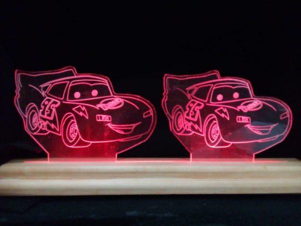 velador led cars