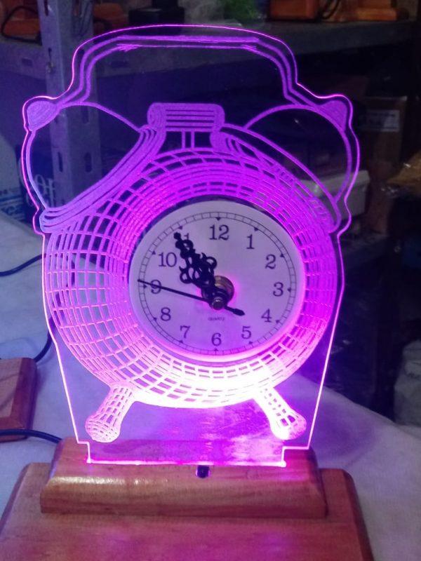 velador led reloj