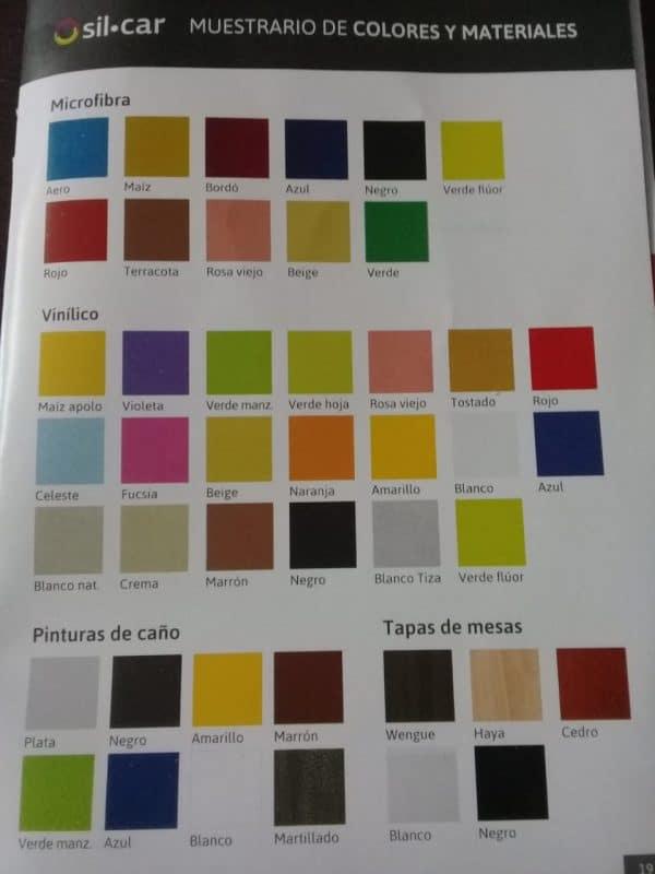 muestra de colorees