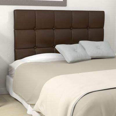 respaldo de cama eco cuero marron
